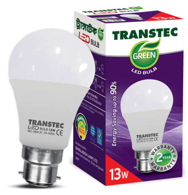 0003991 transtec green led bulb cool day light pin type 13w 1000
