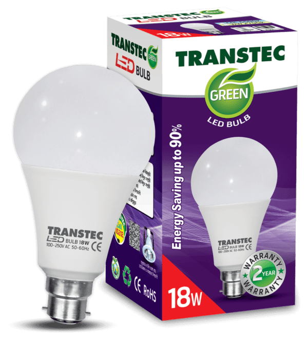 0004004 transtec green led bulb cool day light pin type 18w