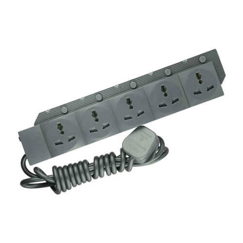 Energypac 5 Point Extension Socket or Multi plug Heavy Duty and Industrial